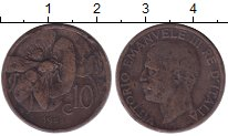 Изображение Монеты Италия 10 сентесим 1928 Бронза VF