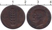 Изображение Монеты Италия 5 сентим 1919 Бронза XF
