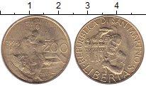 Изображение Монеты Сан-Марино 200 лир 1994 Латунь UNC
