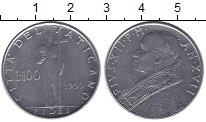 Изображение Монеты Ватикан 100 лир 1955 Сталь XF
