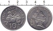 Изображение Монеты Гернси 10 пенсов 1985 Медно-никель UNC- Елизавета II