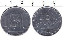 Изображение Монеты Сан-Марино 100 лир 1976 Сталь UNC-
