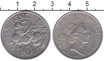 Изображение Монеты Гернси 10 пенсов 1985 Медно-никель UNC- Елизавета II.