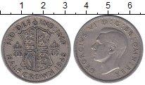 Изображение Монеты Великобритания 1/2 кроны 1948 Медно-никель XF