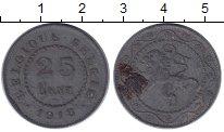 Изображение Монеты Бельгия 25 сентим 1918 Цинк VF
