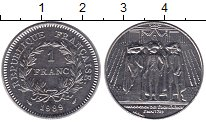 Изображение Монеты Франция 1 франк 1989 Медно-никель UNC