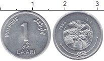 Изображение Монеты Мальдивы 1 лари 1984 Алюминий UNC