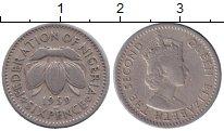 Изображение Монеты Нигерия 6 пенсов 1959 Медно-никель XF- Елизавета II
