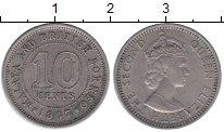 Изображение Монеты Борнео 10 центов 1957 Медно-никель XF