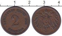 Изображение Монеты Германия 2 пфеннига 1905 Медь XF-