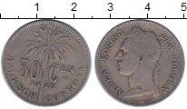Изображение Монеты Бельгийское Конго 50 сантимов 1926 Медно-никель XF