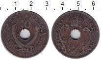 Изображение Монеты Великобритания Восточная Африка 10 центов 1933 Бронза XF-