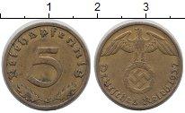 Изображение Монеты Мэн остров 5 пфеннигов 1937 Латунь XF
