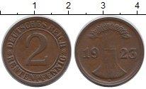Изображение Монеты Веймарская республика Веймарская республика 1923 Бронза XF