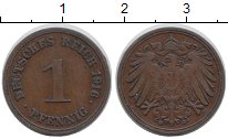 Изображение Монеты Германия 1 пфенниг 1916 Медь XF