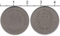 Изображение Монеты Германия 10 пфеннигов 1879 Медно-никель VF
