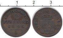 Изображение Монеты Пруссия 1 пфенниг 1846 Медь VF
