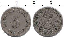 Изображение Монеты Германия 5 пфеннигов 1894 Медно-никель XF