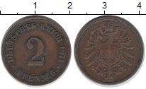 Изображение Монеты Германия 2 пфеннига 1874 Медь XF