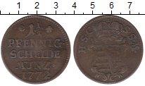 Изображение Монеты Германия Саксен-Кобург-Саалфелд 1 1/2 пфеннига 1772 Медь VF