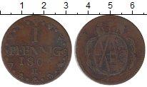Изображение Монеты Германия Саксония 1 пфенниг 1806 Медь XF-