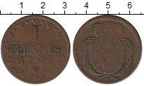 Изображение Монеты Саксония 1 пфенниг 1796 Медь VF