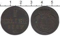 Изображение Монеты Саксония 1 геллер 1787 Медь XF-