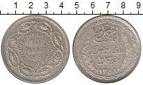 Изображение Монеты Тунис 10 франков 1939 Серебро XF+
