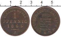 Изображение Монеты Германия Саксен-Веймар-Эйзенах 1 пфенниг 1865 Медь XF-