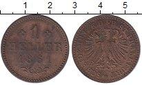 Изображение Монеты Франкфурт 1 геллер 1861 Медь XF