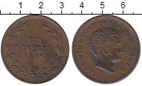 Изображение Монеты Германия Баден 1 крейцер 1828 Медь XF