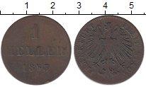 Изображение Монеты Германия Франкфурт 1 геллер 1853 Медь VF