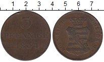 Изображение Монеты Саксония 3 пфеннига 1834 Медь VF