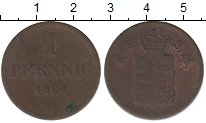 Изображение Монеты Германия Саксония 1 пфенниг 1861 Медь VF