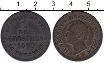 Изображение Монеты Германия Саксония 1 грош 1868 Серебро XF-