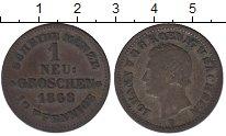 Изображение Монеты Саксония 1 грош 1868 Серебро XF-