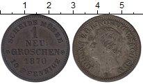 Изображение Монеты Саксония 1 грош 1870 Серебро VF