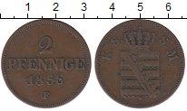 Изображение Монеты Германия Саксония 2 пфеннига 1856 Медь VF