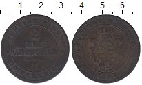Изображение Монеты Германия Саксония 2 гроша 1863 Серебро XF-