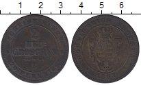Изображение Монеты Саксония 2 гроша 1863 Серебро XF-