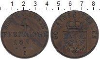 Изображение Монеты Пруссия 4 пфеннига 1871 Медь XF
