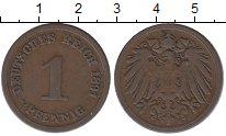 Изображение Монеты Германия 1 пфенниг 1891 Медь XF-