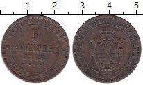 Изображение Монеты Саксония 5 пфеннигов 1863 Медь XF