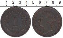Изображение Монеты Великобритания Стрейтс-Сеттльмент 1 цент 1872 Медь VF