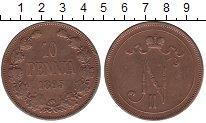 Изображение Монеты 1894 – 1917 Николай II 10 пенни 1895 Медь XF-
