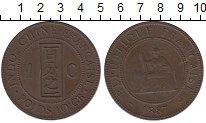 Изображение Монеты Индокитай 1 цент 1887 Медь XF+