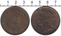 Изображение Монеты Маврикий 2 цента 1897 Бронза XF