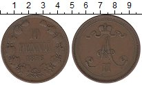 Изображение Монеты 1855 – 1881 Александр II 10 пенни 1876 Медь XF