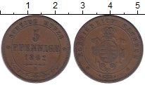 Изображение Монеты Саксония 5 пфеннигов 1862 Медь XF