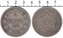 Изображение Монеты 1881 – 1894 Александр III 1 марка 1890 Серебро VF L
